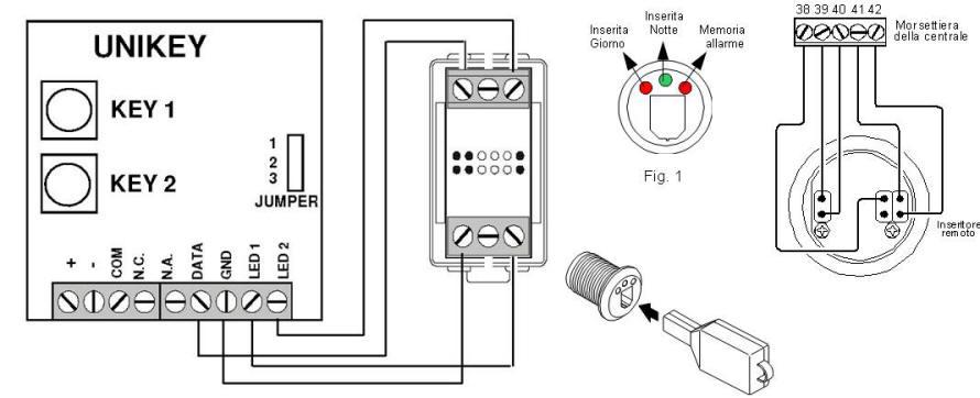 Schema Elettrico Selettore A Chiave : St kuk chiave elettronica isecurity contatti infrarossi