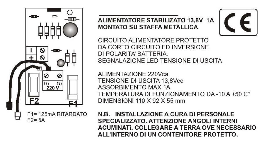 Schema Caricabatterie 13,8 1 A SV-CB1