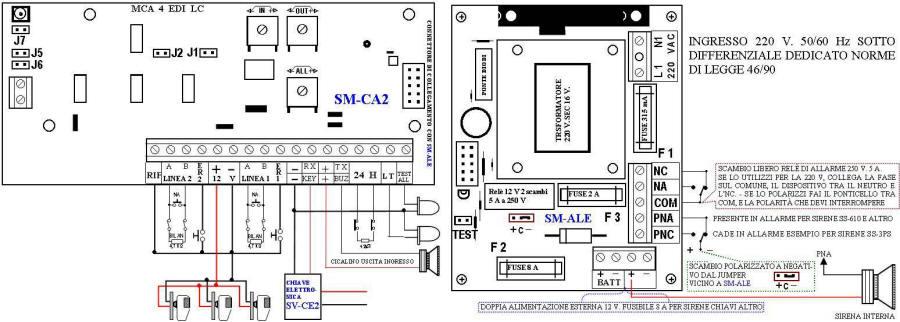 Schema Elettrico Sirena Autoalimentata : Snap schema sensori allarme fare di una mosca photos on