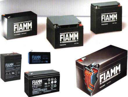 Vetrina Batterie Ricaricabili al Pb Fiamm