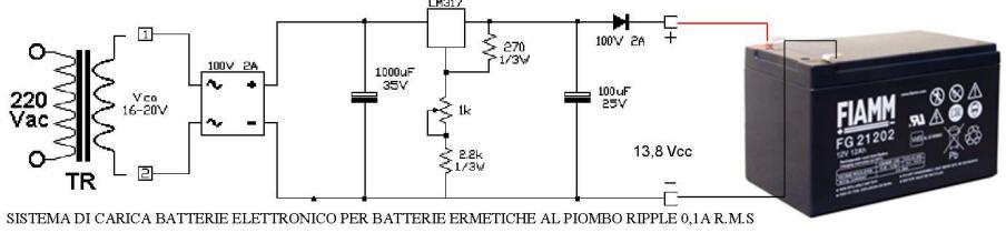 Sistema di Carica Batterie Pb 12 V. 12 Ah Securvera