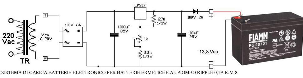 Sistema di Carica Securvera per le Batterie a Secco