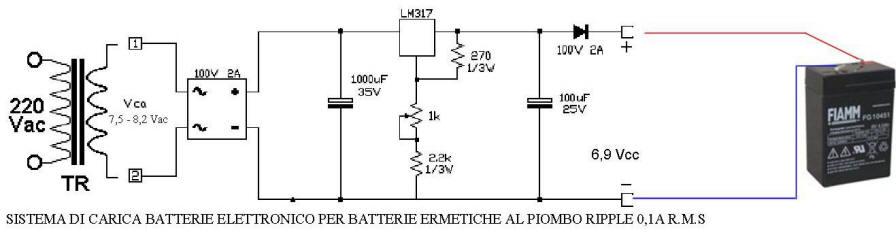 Esempio di Carica Batterie al Pb Fiamm