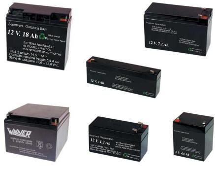Vetrina Batterie Ricaricabili Selezionate Securvera