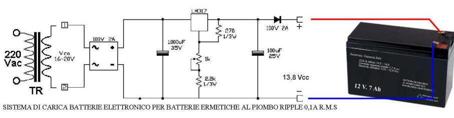 Esempio di Carica Batteria per Batterie Ermetiche