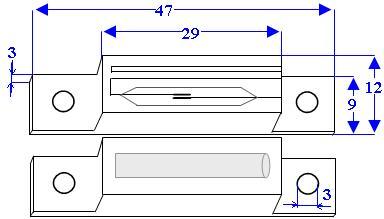 Schema Misure Contatto Magnetico ST405 Securvera
