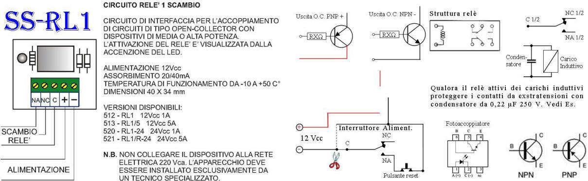 Schema Collegamento Open Collector : Ss fae distributore tensioni sotto fusibile relè per open