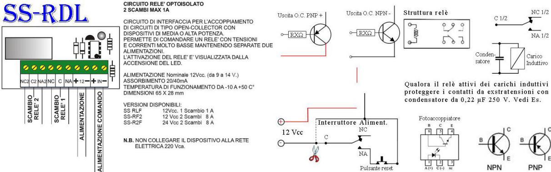 Relè Polarizzato 12 v. 2 Scambi 1 Ah Securvera