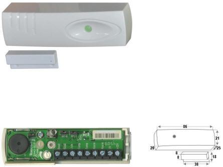Sensore Impatto Misure Marrone Allarme Securvera