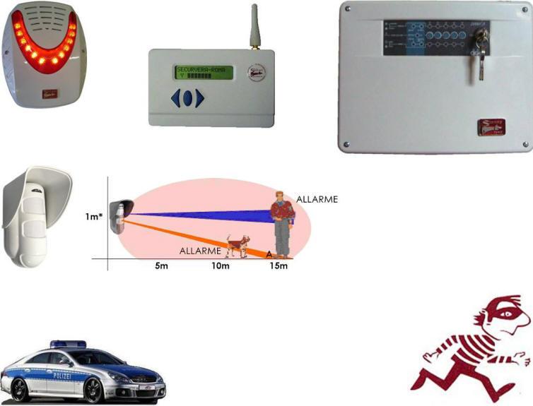 Sensore Antifurto Esterno Tripla Tecnologia Securvera