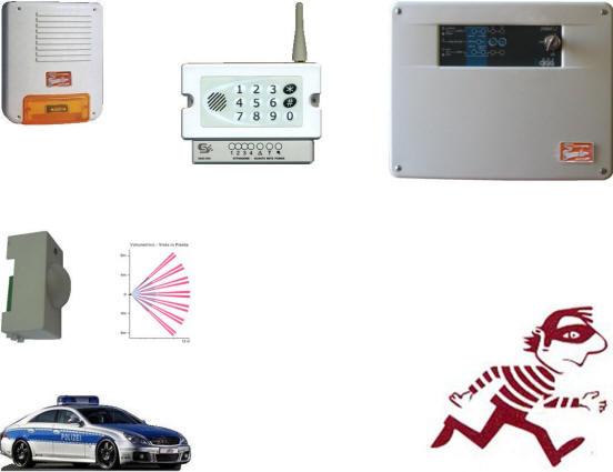 Allarme Sensore Infrarosso Incasso Securvera