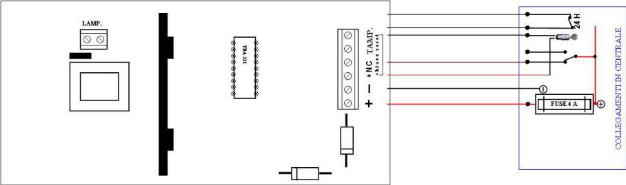Schema Elettrico Sirena Autoalimentata : Schema elettrico sirena autoalimentata montaggio