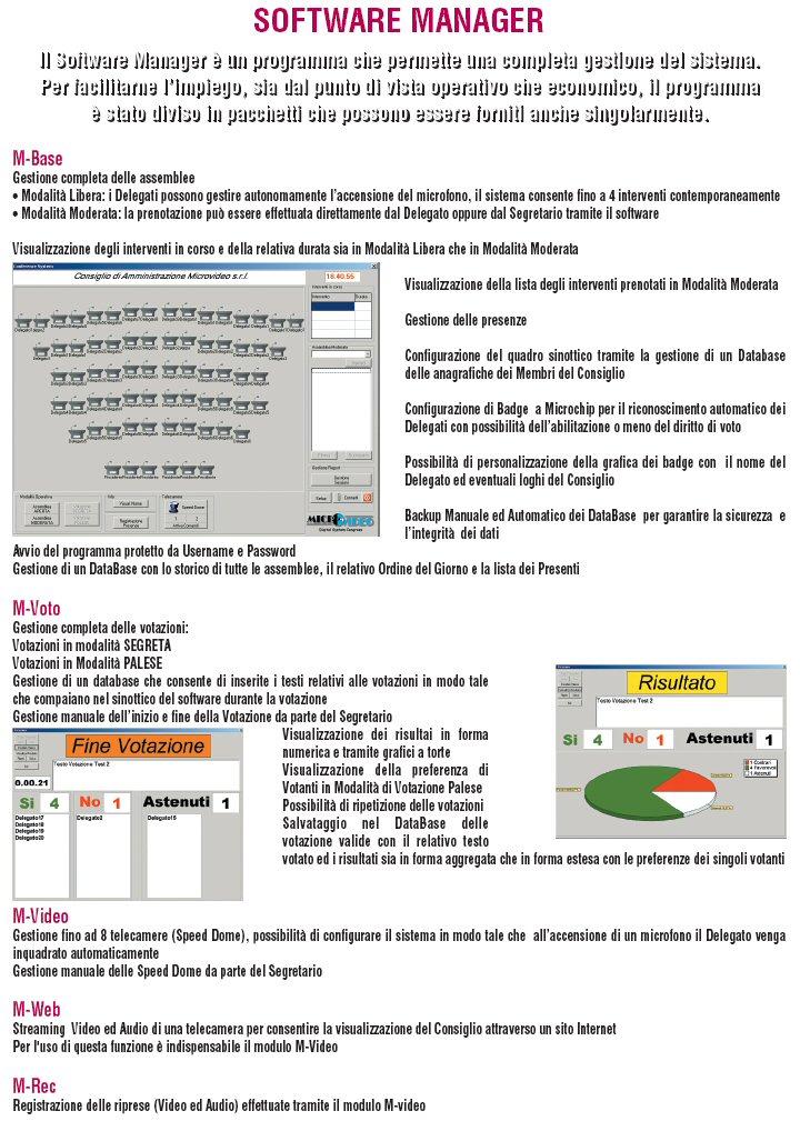 Software Gestione Impianto di Videoconferenza