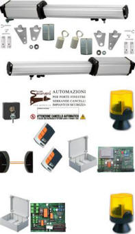 Kit Automatismo 24/220 V. Cancello 2 Ante 4 mt Sbeco