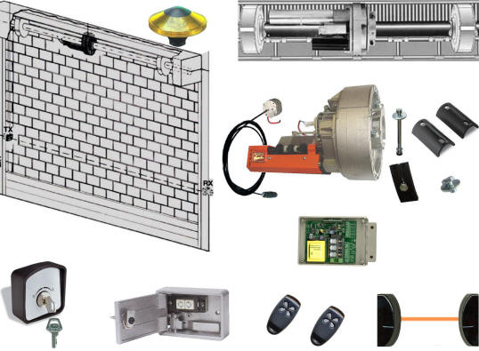 Schema Elettrico Per Serrande : Serranda kg automatica motore v antifurti