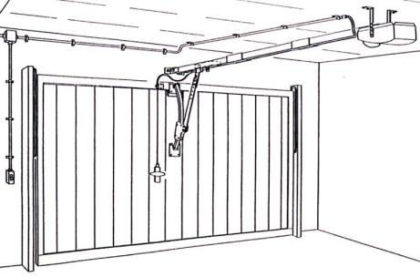 Sv pb6 kit automatismo basculante da 60 kg impianti for Porta basculante per cani fai da te