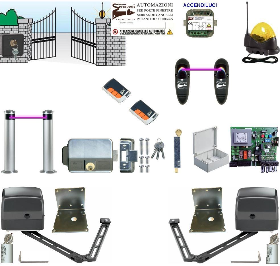 Schema Elettrico Per Automazione Cancello : Automazione braccio articolato kit v cancello anta