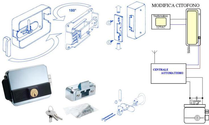 Schema Elettrico Elettroserratura : Elettroserratura cancello elettrico ambidestro serratura