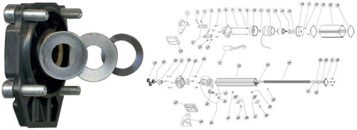Schema Elettrico Motore Tapparelle : Coperchio anteriore pm1sc motore cancelli ante battenti automatici