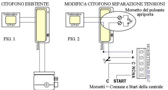 Schema Elettrico Elettroserratura : Comando cancello automatico tramite citofono salva