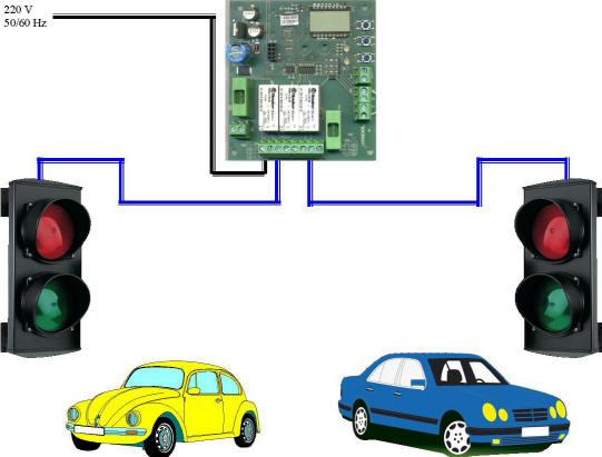Impianto Semaforico 2 Luci Automatico Securvera
