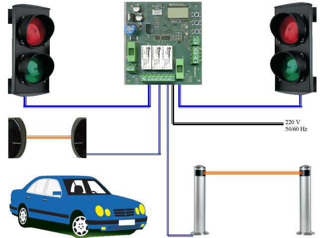 Impianto Semaforico 2 Luci Sicurezza Strada Securvera