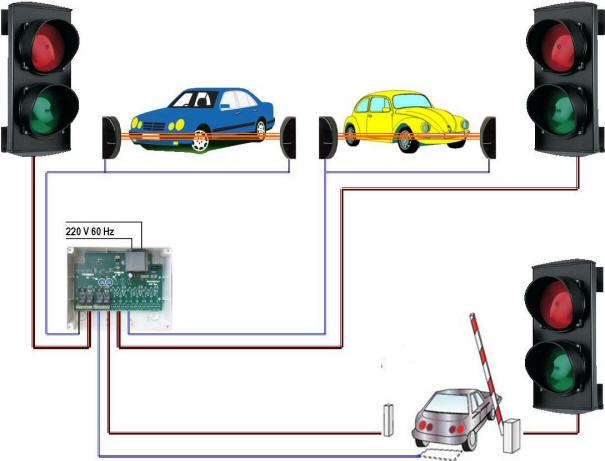 Impianto Semaforico 3 Semafori 2 Luci Securvera