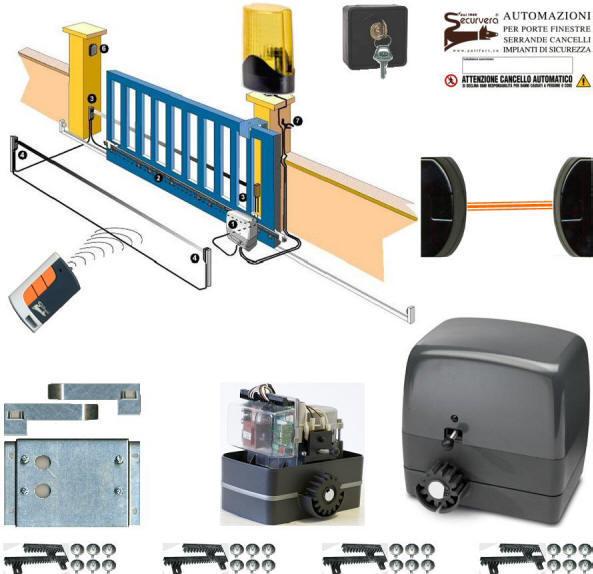 Schema Elettrico Per Cancello Scorrevole : Sv kms kit base cancello scorrevole q li impianti di