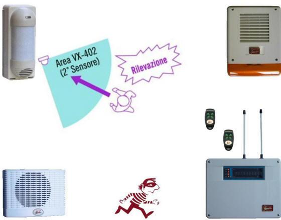 Allarme Esterno VX-402R Radio Trina Securvera