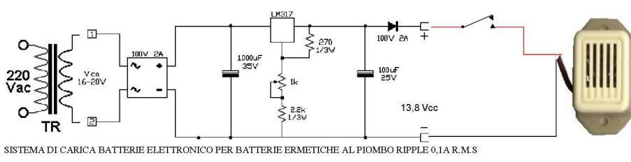 Schema circuito antiallagamento