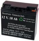 Batteria Ricaricabile 12 V. 18 Ah Selezionata Securvera