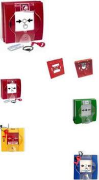 Pulsanti Antincendio Vari Tipi Indirizzati e Convenzionali