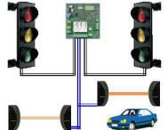 Impianto Semaforico Controllato 3 Luci 2 Semafori Securvera
