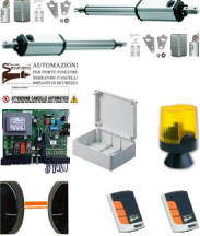 Kit Automatismo 220 V. Cancello 2 Ante 4 mt. Securvera