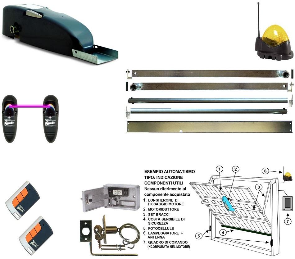 Kit Automatismo Completo Basculante 220 V Per Porte da 10 M² Securvera