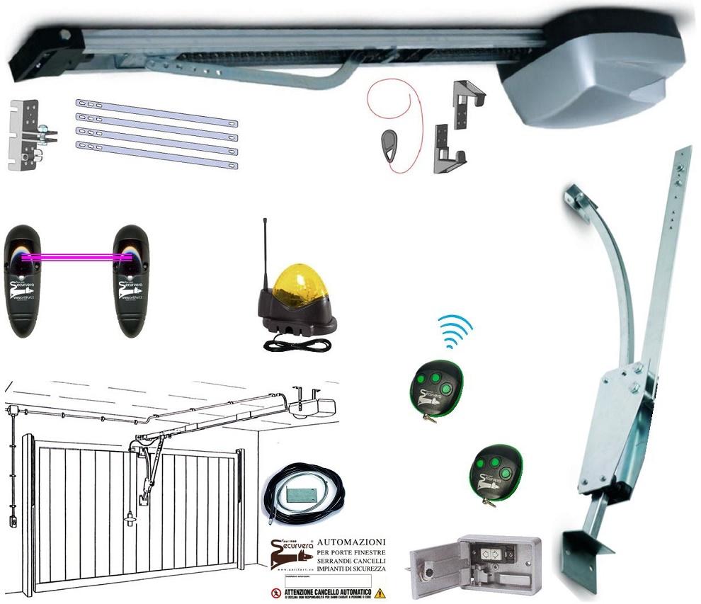 Kit Automatismo Porta Basculante 70 Kg 220/24 V.