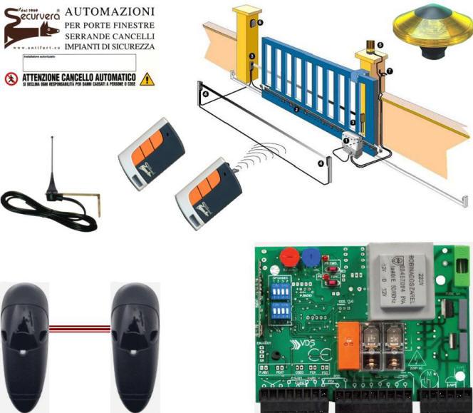 Schema Elettrico Motore Bft Scorrevole : Centralina comando cancello scorrevole radio mhz